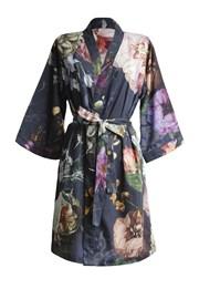 Жіночий халат Essenza Home Fleur темно-синій