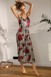 Атласна нічна сорочка Flowers Roses