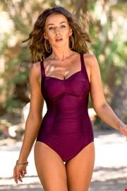 Жіночий суцільний купальник Chloe Grape