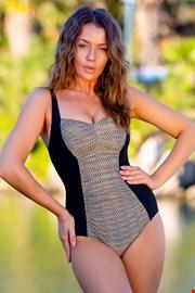 Жіночий суцільний купальник Safari khaki