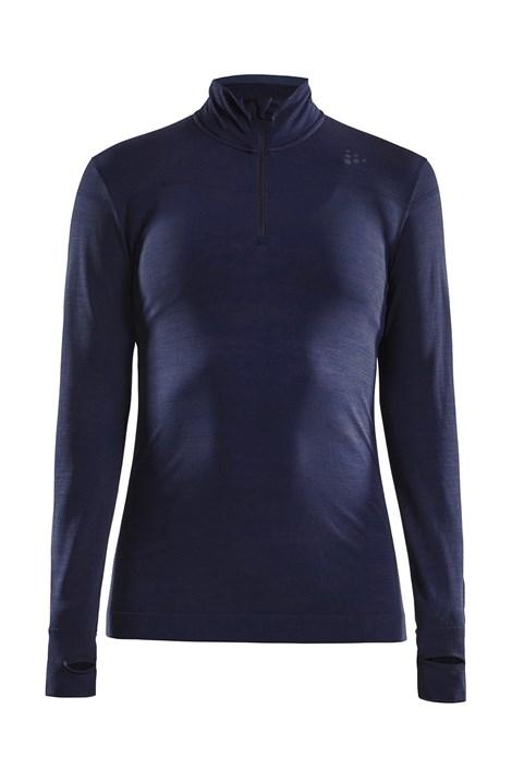 Жіночий лонгслів CRAFT Fuseknit Comfort Zip темно-синій
