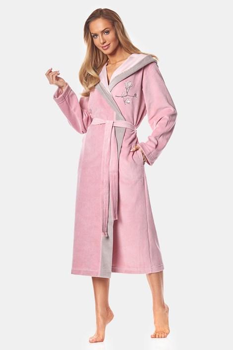 Жіночий бавовняний халат May powder pink