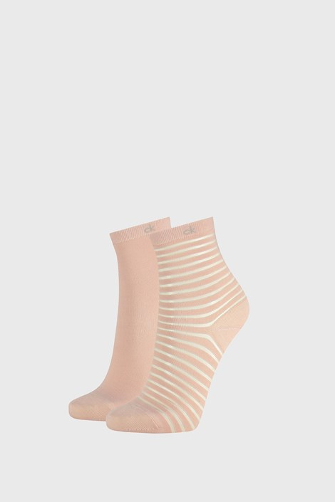 2 ПАРИ жіночих шкарпеток Calvin Klein Lilly рожеві