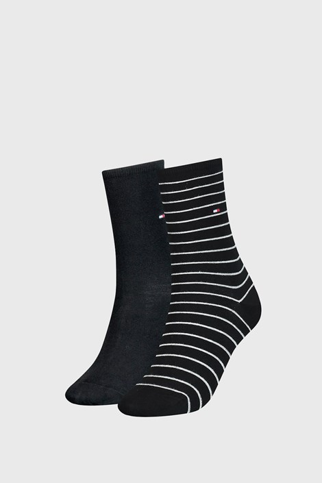 2 ПАРИ жіночих шкарпеток Tommy Hilfiger Small Stripe Black