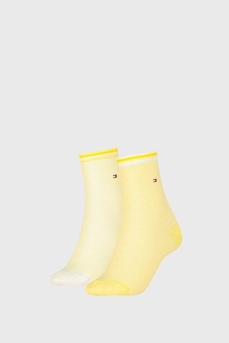 2 ПАРИ жіночих шкарпеток Tommy Hilfiger Honeycomb Yellow