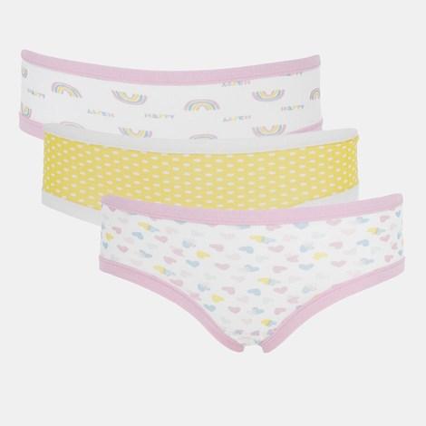 3 ШТ трусиків для дівчинки Basic Cotton Rainbow