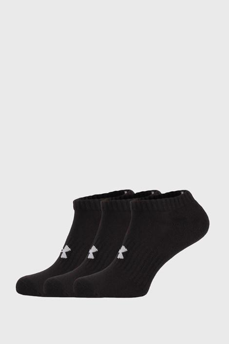 3 ПАРИ низьких чорних шкарпеток Core Under Armour