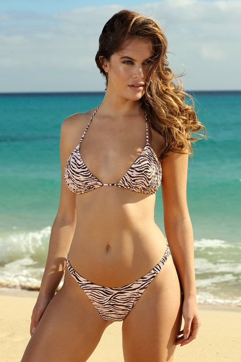Жіночий роздільний купальник Zebra High Side
