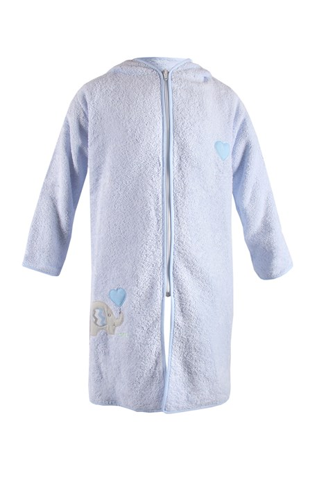 Дитячий халат Blue Kids синій слон