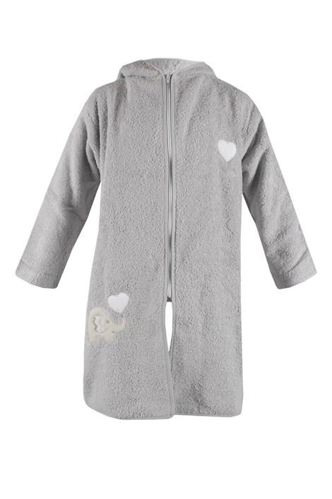 Дитячий халат Blue Kids сірий слон