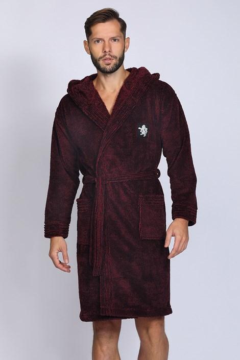 Бордовий халат Bruce