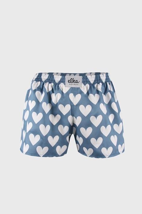 Жіночі сині шортики ELKA LOUNGE із сердечками