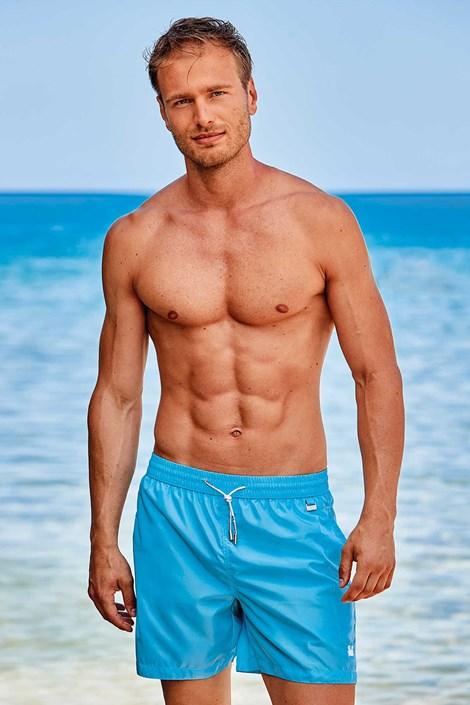Блакитні пляжні шорти Basic PLUS SIZE