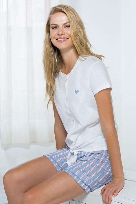 Жіночий домашній комплект біло-блакитний