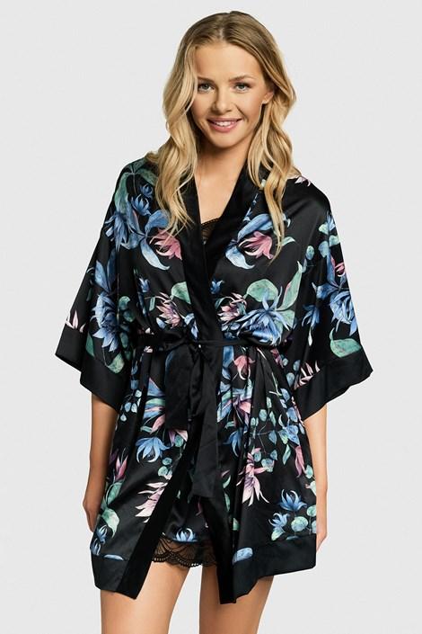 Атласний халат Florist