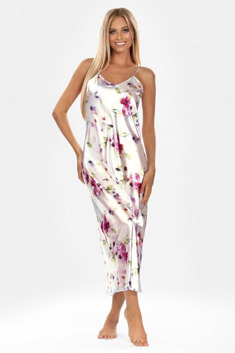 Атласна нічна сорочка Flowers