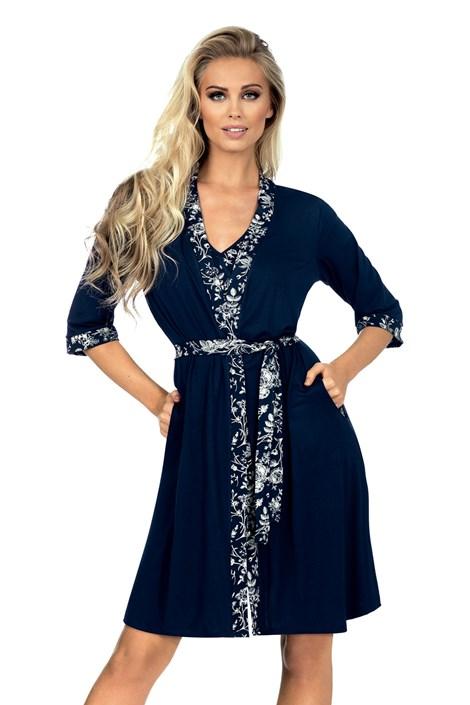 Жіночий халат Valia синій